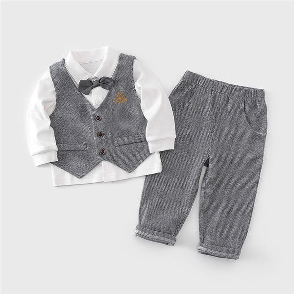 Grey Textured Gentleman Set