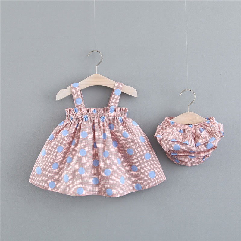 Colorful Polka Dot Bloomer Set