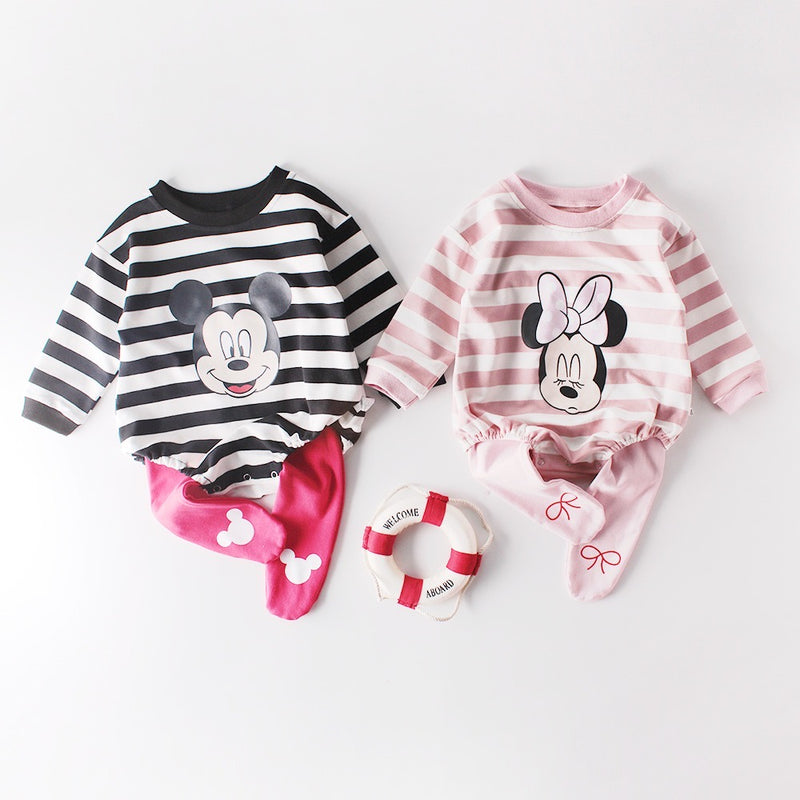 Mickey And Minnie Rompers