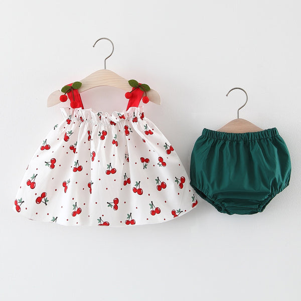 Berry on Shoulder Bloomer Set