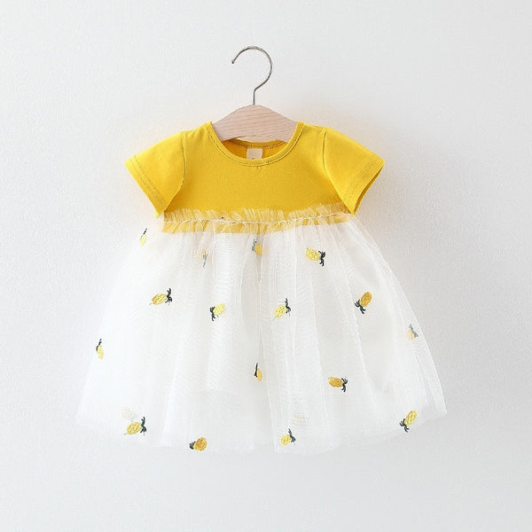 Pineapple Printed Tutu Summer Dress