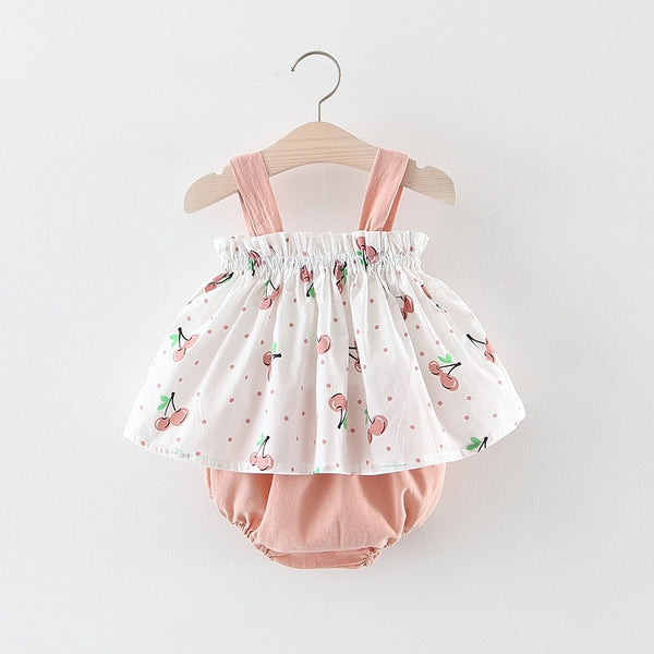 Berry Printed Bloomer Set