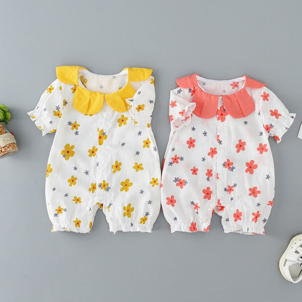 Flower Shaped Collar Romper
