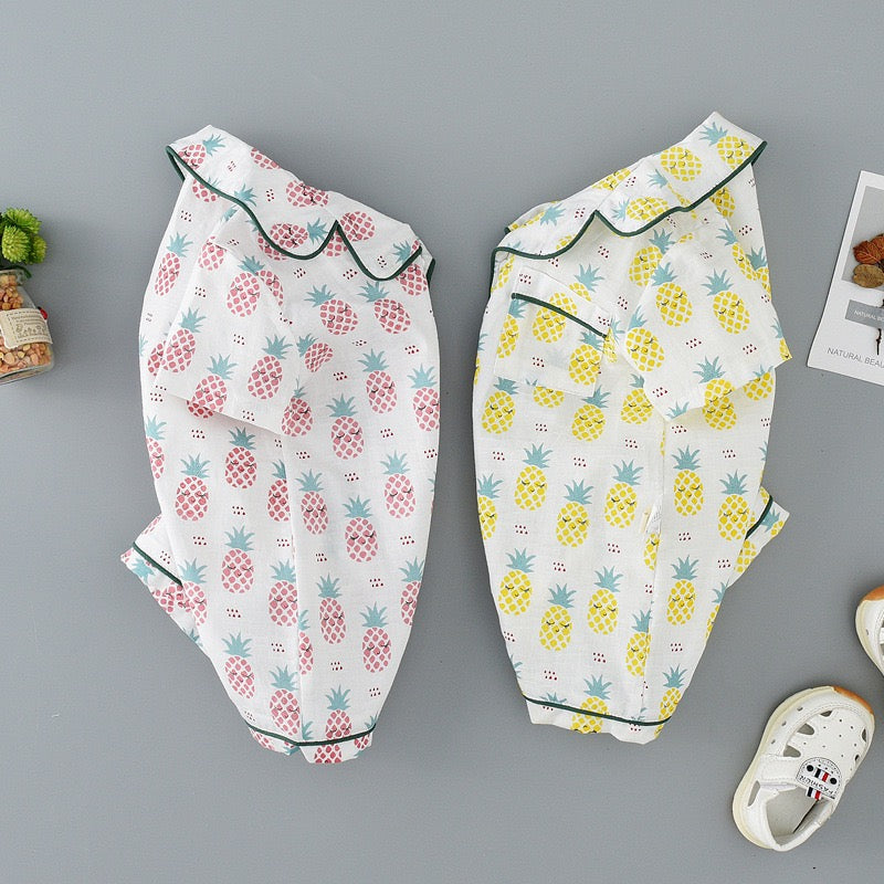 Pineapple Printed Baby Romper