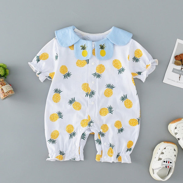 Peter Pan Collar Pineapple Romper