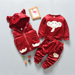 Elephant Winter Set With Hooded West