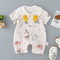 Rabbit Printed Summer Jumpsuit
