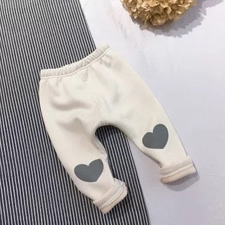 Heart Printed Winter Pants
