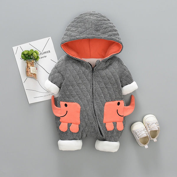 Elephant Made Hooded Winter Jumpsuit