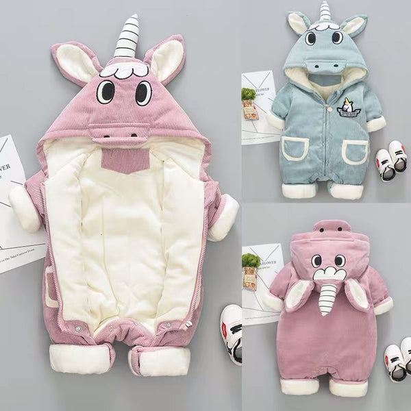 Unicorn Made Hooded Winter Jumpsuit