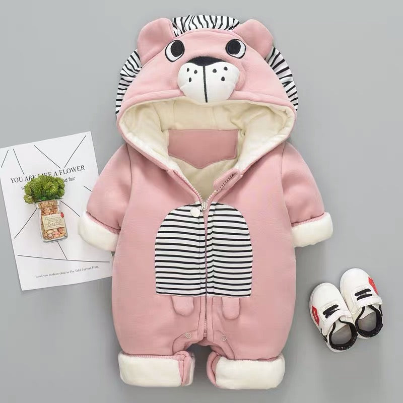 Lion Made Winter Thick Jumpsuit