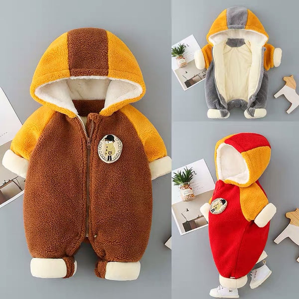Double Color Hooded Winter Jumpsuit