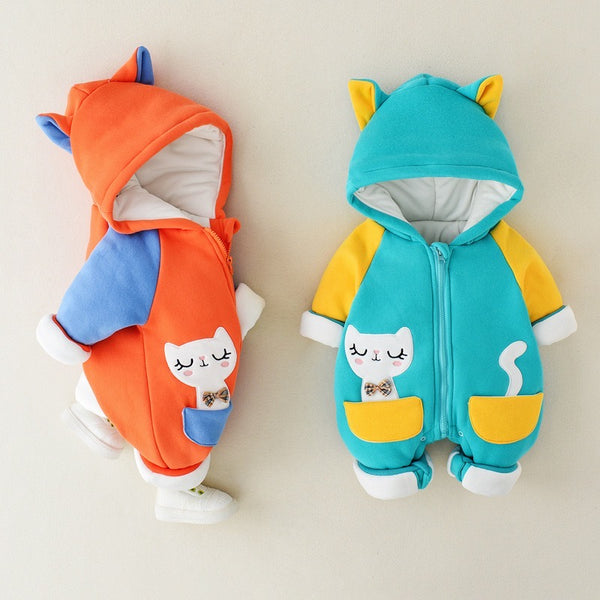 Cat Pocket Winter Jumpsuits