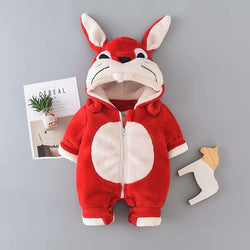 Rabbit Face Hooded Winter Jumpsuit