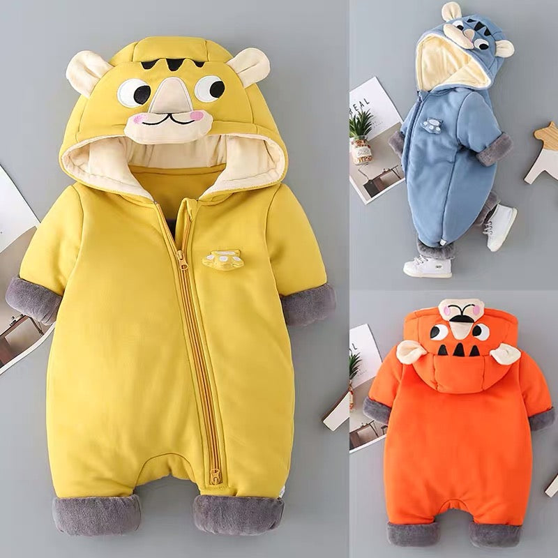Lion Hooded Winter Jumpsuit