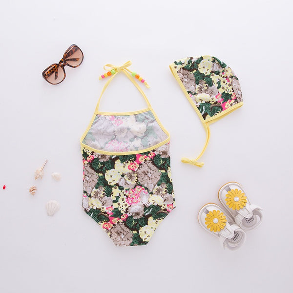 Frilly Floral Swimsuit
