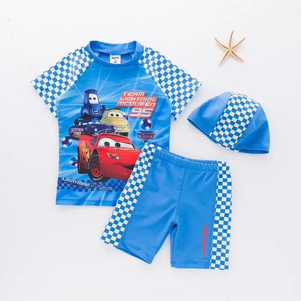 Cars Printed Swimsuit