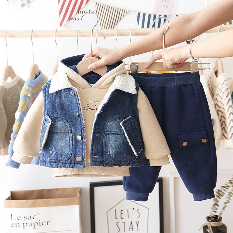 Denim Jacket Winter Set