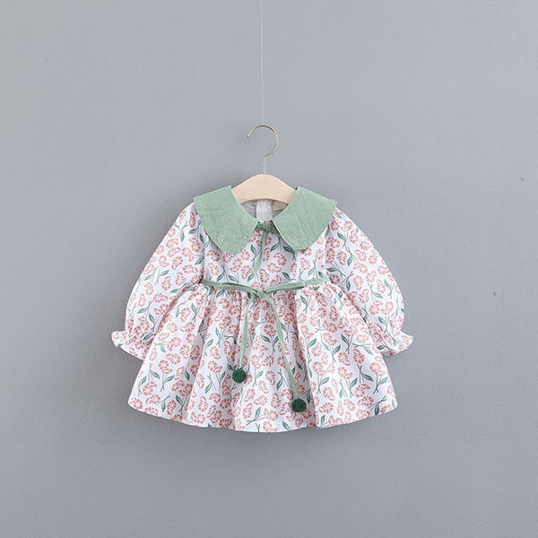 Floral Printed Peter Pan Collar Summer Dress