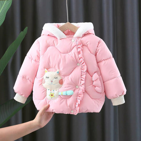 Cat Padded Winter Jacket