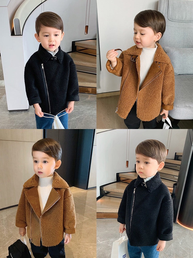Side Zipper Winter Coat