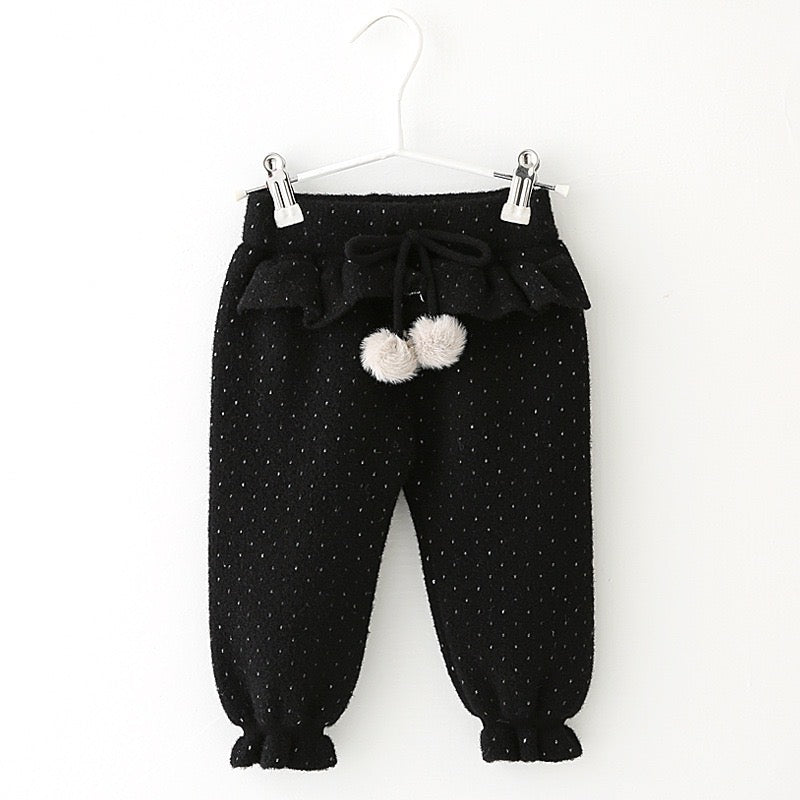Small Polka Dotted Winter Pants