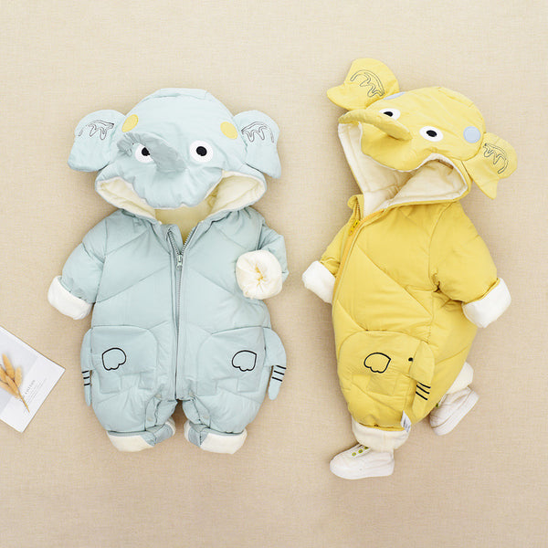 Elephant Winter Hooded Jumpsuit