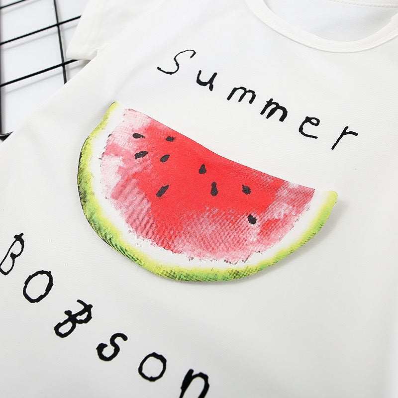 Fruit Printed Summer Romper
