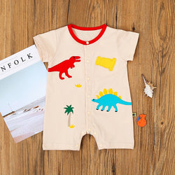 Dinosaur Made Buttoned Romper