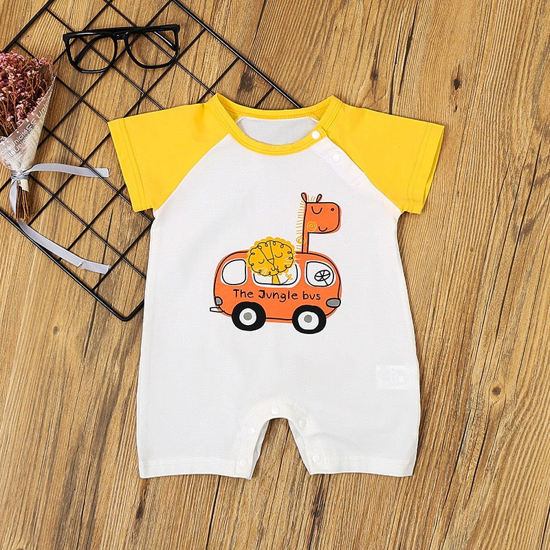 Animal On Vehicle Romper