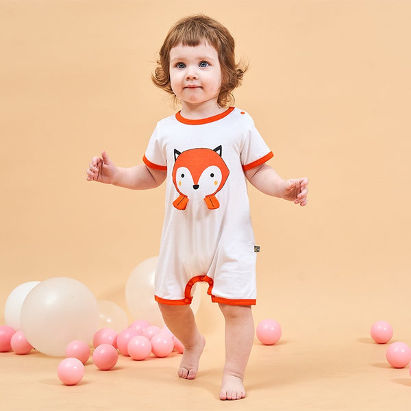 Fox And Panda Romper