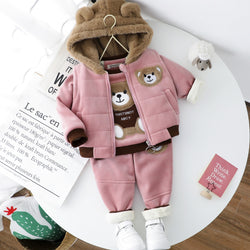Teddy Bear Made 3 Piece Winter Set