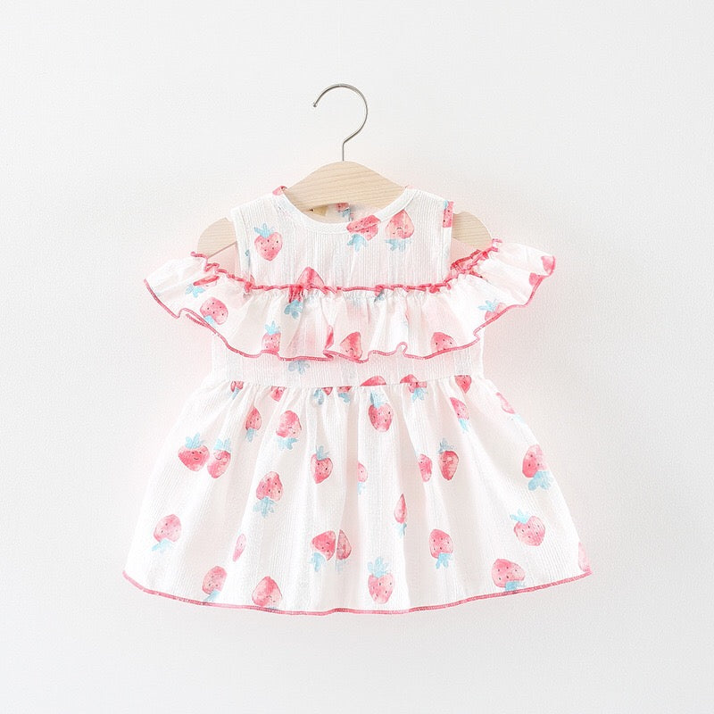 Strawberry Printed Summer Dress