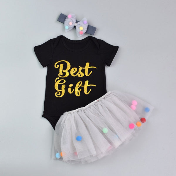 Best Gift Printed Tutu Dress With Headband