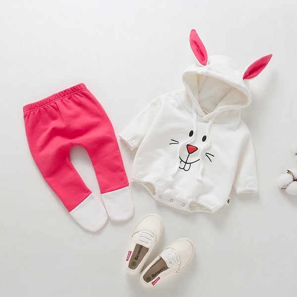 Bunny Made Romper And Leggings Set
