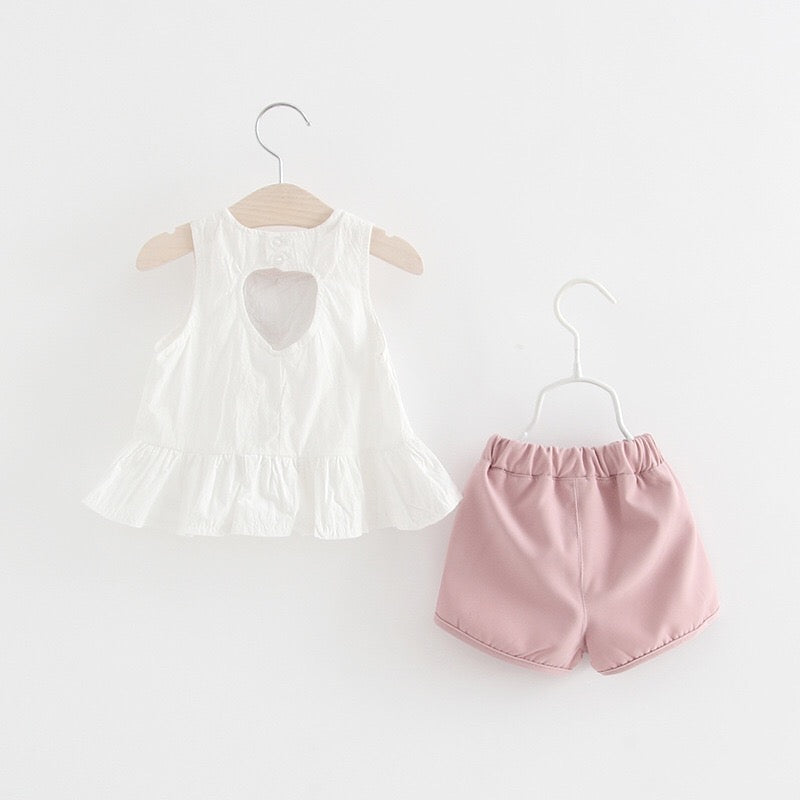 Heart Shaped Summer Set For Baby Girls