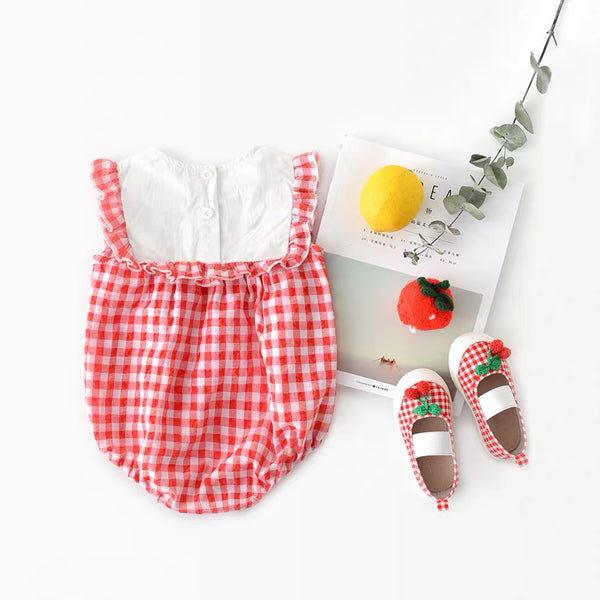 Red Plaided Romper
