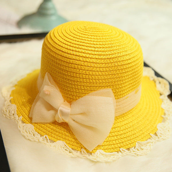 Hat With Bow Knot