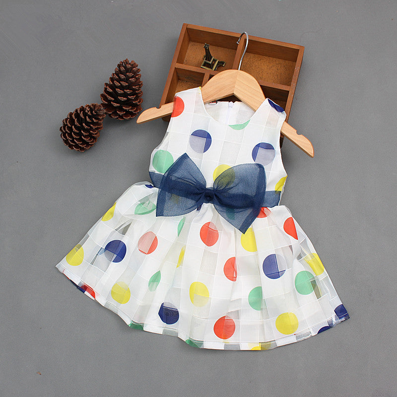 Polka Dots with Bow Dress