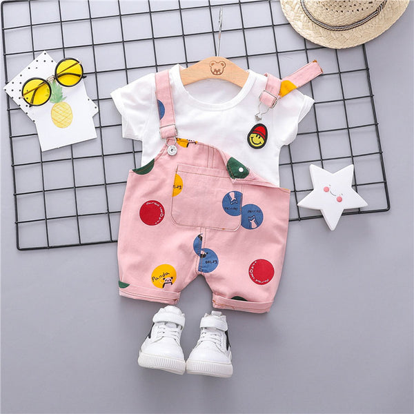 Polka Dot Dungaree Summer Set