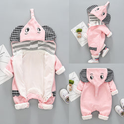 Elephant Hooded Winter Jumpsuit