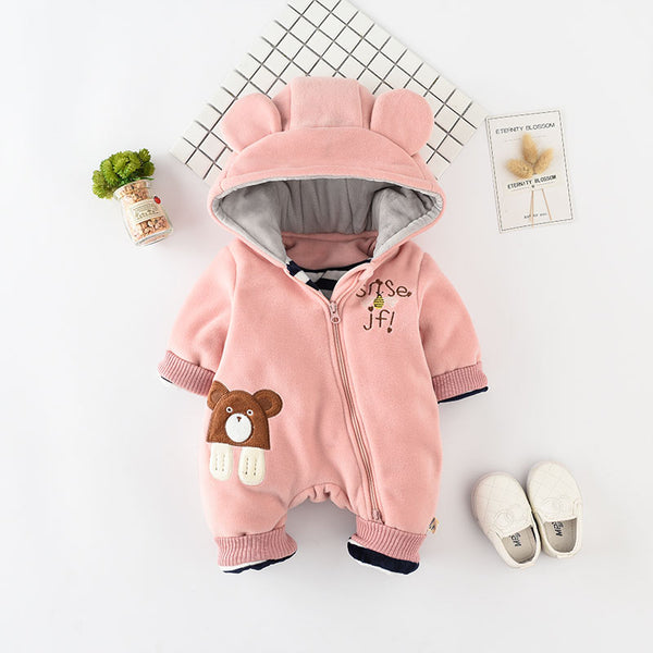 Bear Hooded Winter Jumpsuit
