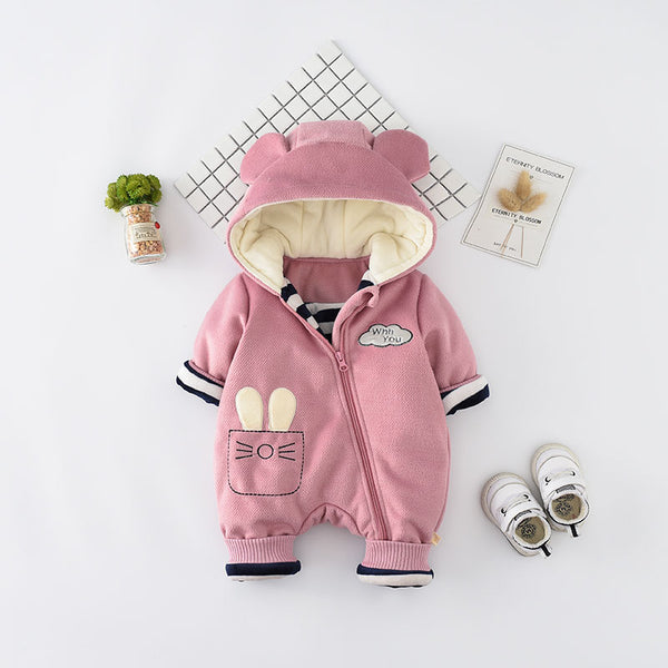 Cat Side Zipper Winter Jumpsuit