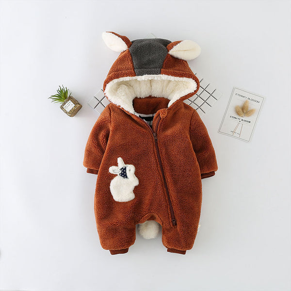 Rabbit Made Side Zipper Winter Jumpsuit