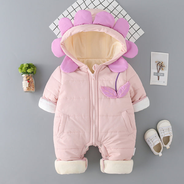 Double Pocket Zipper Winter Jumpsuit