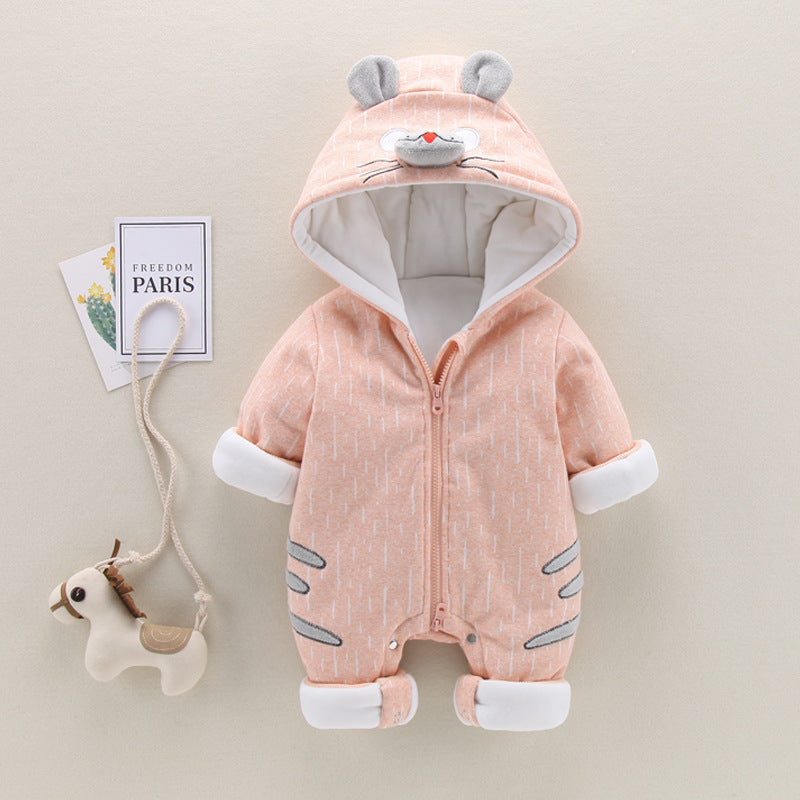 Mouse Hooded Winter Jumpsuit