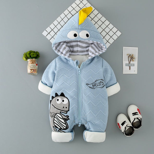 Dino Hooded Winter Jumpsuit