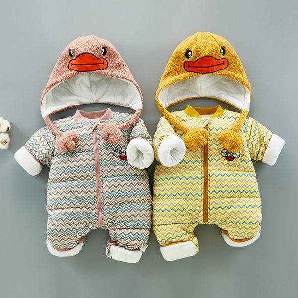 Duck Hooded Winter Jumpsuit