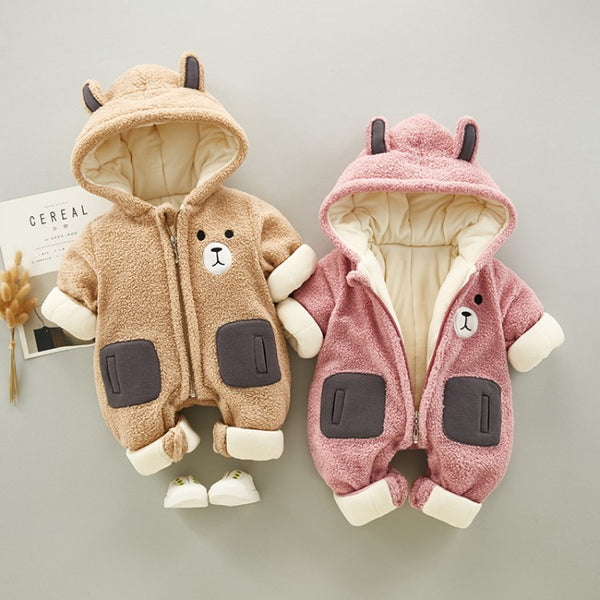 Bear Fleece Winter Jumpsuit