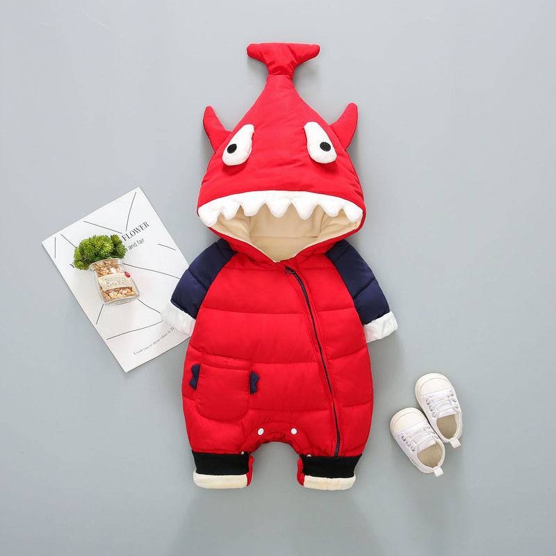 Fish Hooded Winter Romper